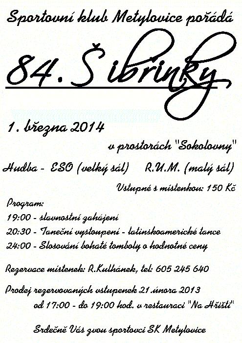 84. ŠIBŘINKY