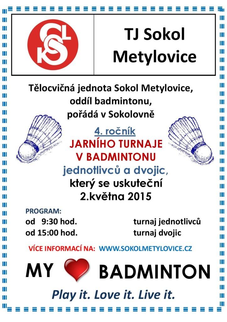 Badminton pozvánka 2.5.2015